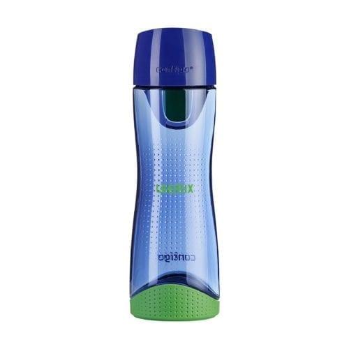 Promotional Contigo Swish Water Bottles Branded Blue Closed