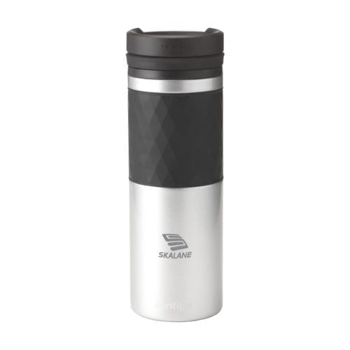 Promotional Glaze Twistseal Mugs Branded Silver