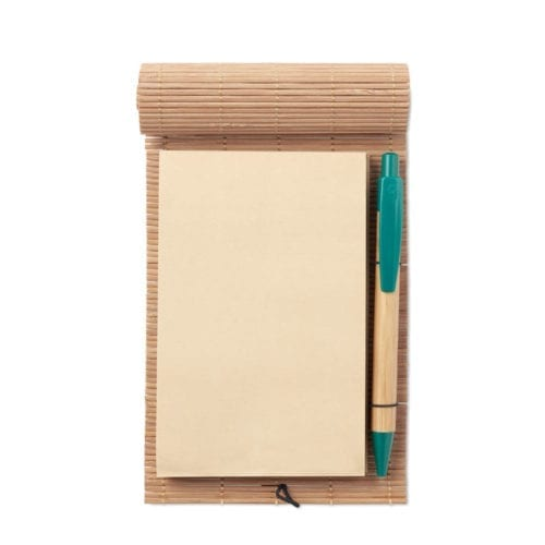 Promotional Cortina Notepads open with pen