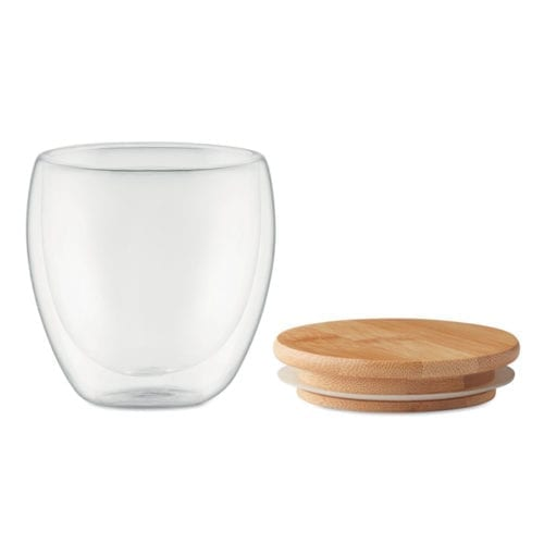 Promotional Triana Small Glass Cup lid off