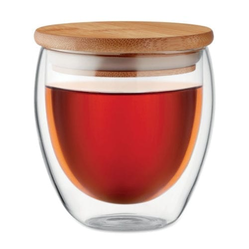 Promotional Triana Small Glass Cup with Tea